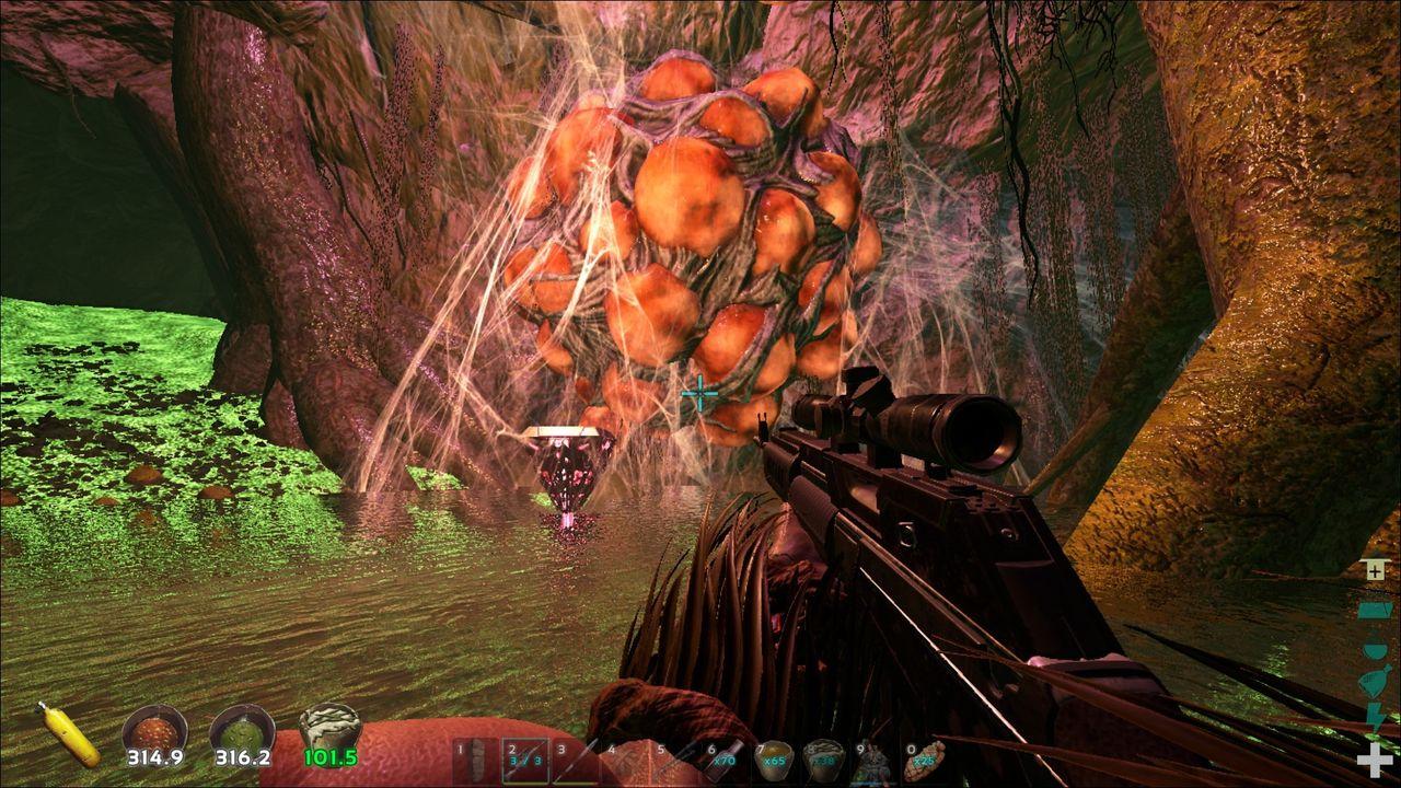 ARK 追加Caveの攻略 Swamp Cave編 : げぇむはしりがき