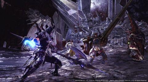 【MHW×FF14コラボ】「竜騎士カッコよすぎ!」コラボ動画が登場した竜騎士がMHW民に大好評!ベヒーモスとの戦闘も面白そうだな!