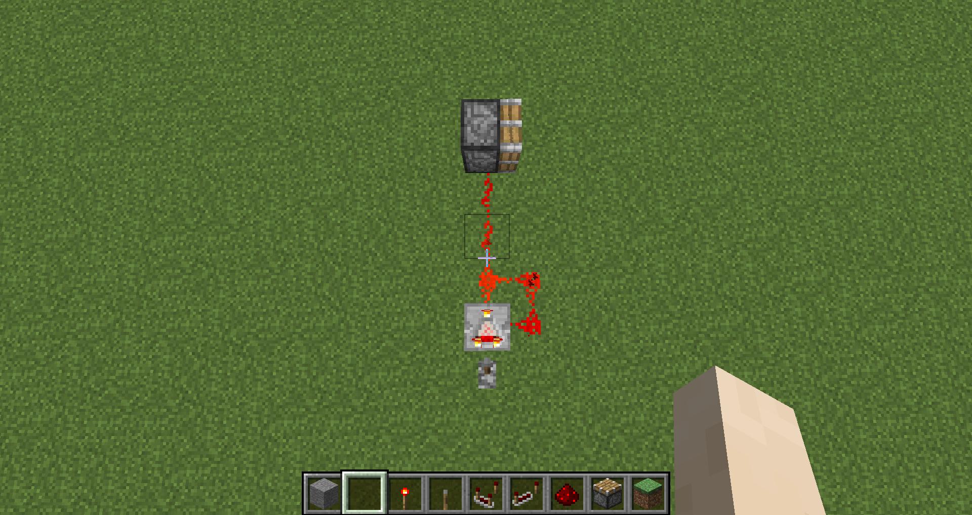 上記配置にてピストンの連続動作が可能となりますコンパレータからの距離が短いと連続動作が出来ませんのでご注意下さい