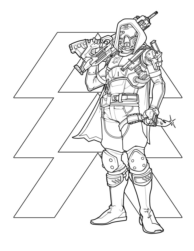 destiny characters hunter coloring pages - photo#3