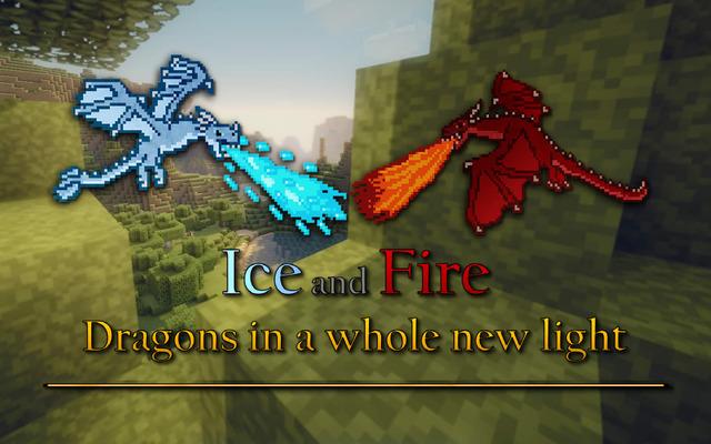 氷と炎 - Minecraftのためのmod龍
