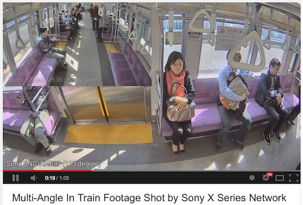ソニーネットワークカメラXシリーズ 電車設置
