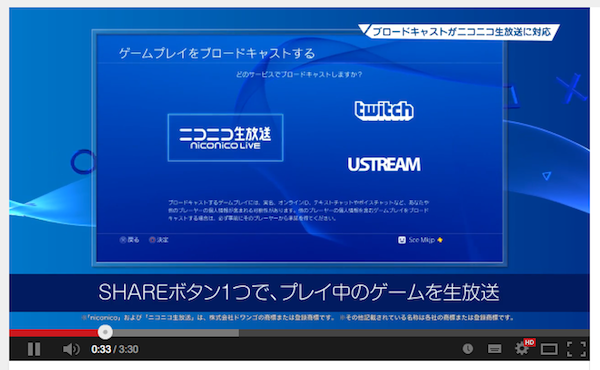 PS4ニコニコ生放送