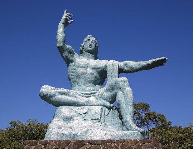 【画像】長崎の平和記念像のモデルになった人、身長184cm体重85kgの筋骨隆々  人への思いやりもすごい人だった!