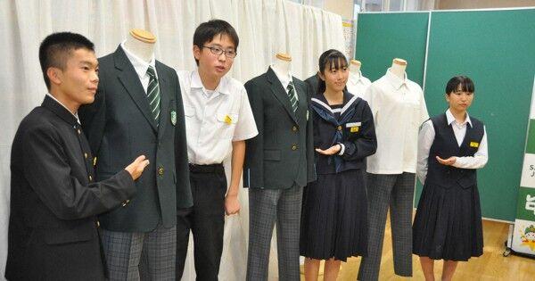 """ジェンダーレス! 中学で男女ともスラックスを標準制服に、スカートは申請すれば """"男女共"""" に着用可です・・・"""