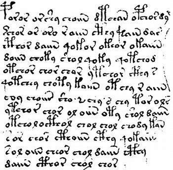 ヴォイニッチ手稿-文字