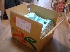 母親からの救援物資