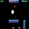 白いブロックを操り、青い壁を避けていくゲーム