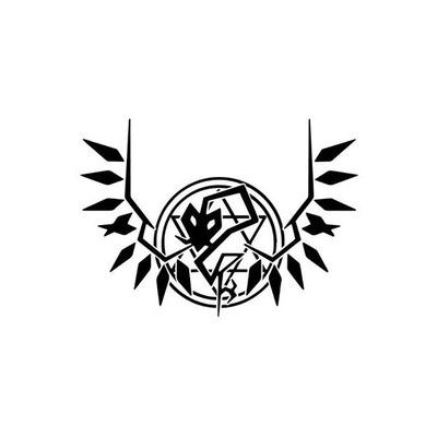 東方 フランドール エンブレムカッティングステッカー(黒)