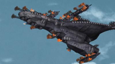 ガラスの艦隊 再び合い交えるクレオとヴェッティ。 ヴェッティが放った巨大砲弾は、ガウ... ガラ