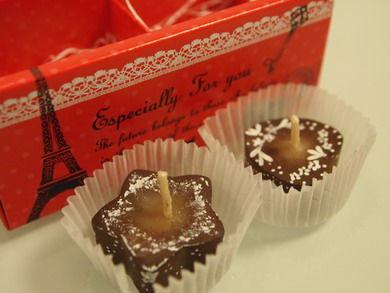 バレンタインのキャンドル
