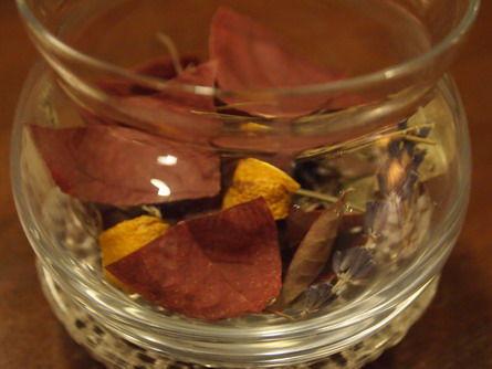 落ち葉のアロマポプリ