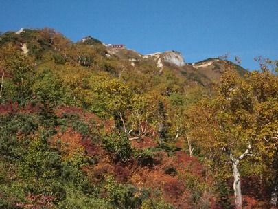 紅葉の燕岳