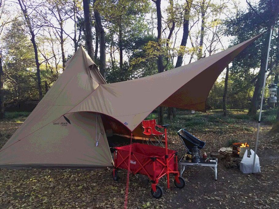 12月のキャンプ