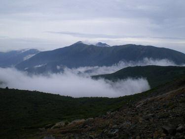 那須岳と大黒屋・ 北湯温泉
