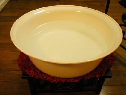 草津温泉湯の花でFoot bath
