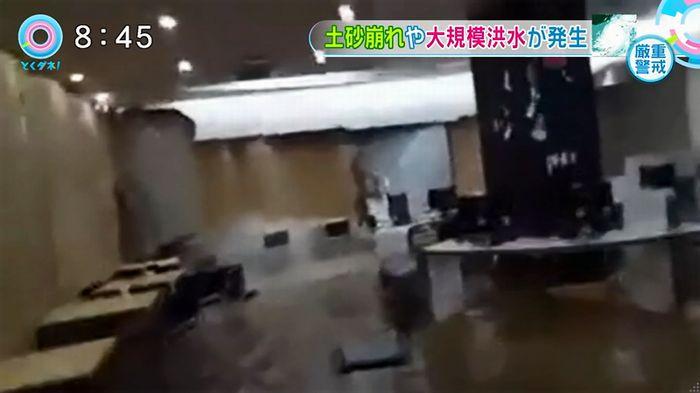 とくダネ!韓国の大学の雨漏りのキャプチャ8