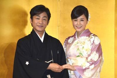 片岡愛之助&藤原紀香が結婚会見!の画像