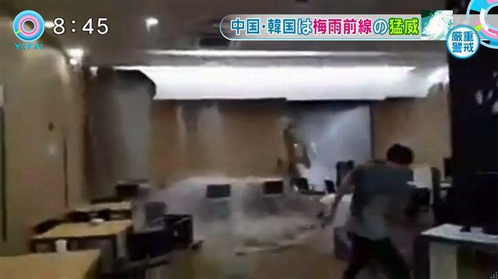 とくダネ!韓国の大学の雨漏りのキャプチャ7