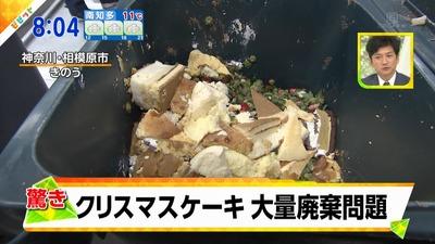 「クリスマスケーキ大量廃棄の実態、1日500kgのケーキがブタの餌に…」という記事の見出し画像