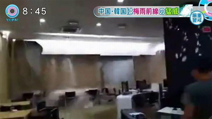 とくダネ!韓国の大学の雨漏りのキャプチャ6