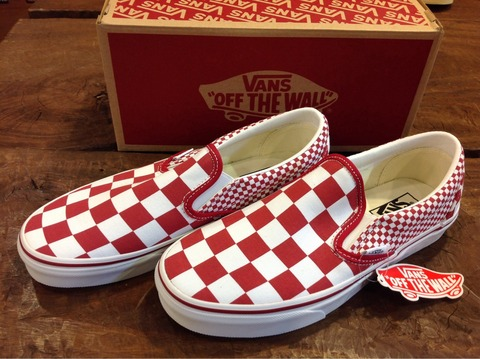 VANS Classic Slipon (Mix Checker) Chili Pepper 入荷