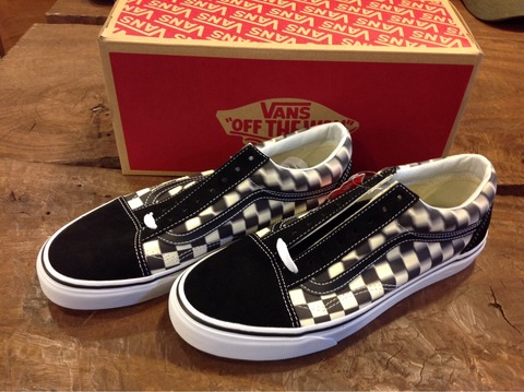 VANS Old Skool Blur Check BLKWHT 入荷