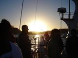 船上の夕日