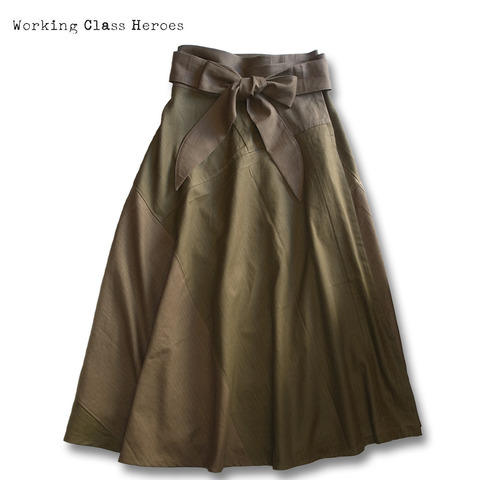 Working Class Heroes Remake Maxi Wrap Skirt