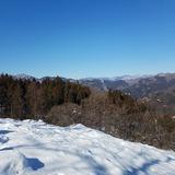 浅間嶺から鷹ノ巣山〜雲取山〜飛龍山〜三頭山を望む