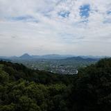 金刀比羅宮 御本宮前から讃岐平野〜飯野山(讃岐富士)を望む