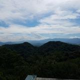 金刀比羅宮 御本宮前から讃岐山脈の竜王山〜大川山を望む