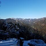浅間尾根から雲取山〜飛龍山〜三頭山を望む
