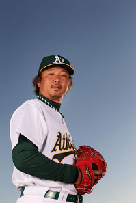 Hideki+Okajima+Oakland+Athletics+Photo+Day+hQRJY9wc6wQl