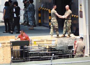 在日米陸軍、相模補給廠で大量のライフル銃が発見される