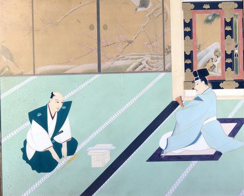 国史絵画『織田信長の勤皇』作:岩田正巳
