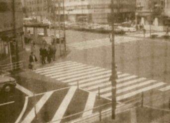 赤信号文化論発祥地の横断歩道