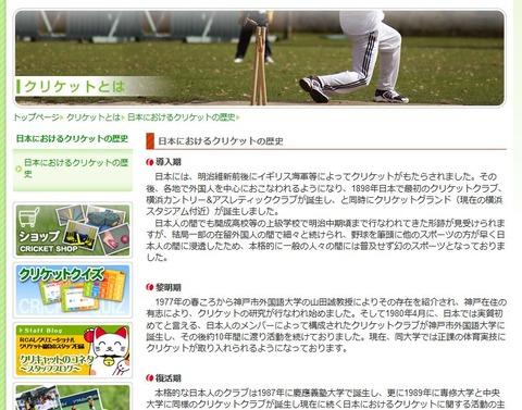 レクリエーショナルクリケット協会ウェブサイトから