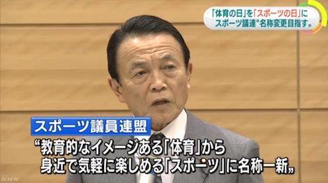 スポーツ議員連盟_麻生太郎