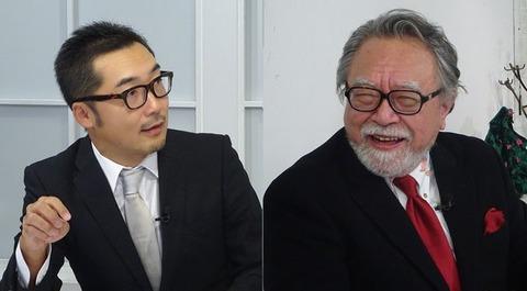 上杉隆(左)と玉木正之