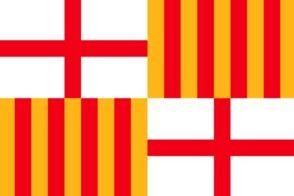 図6:バルセロナ市の旗