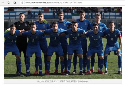 2019年U20W杯イタリア代表