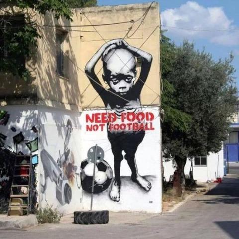 ブラジルW杯反対風刺画2