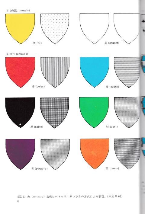 森護『西洋の紋章とデザイン』口絵4頁