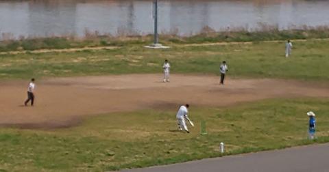 日本国某所で行われた「クリケット」の練習風景(2019年)