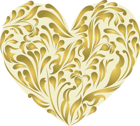 Gold-Heart-made-with-curls