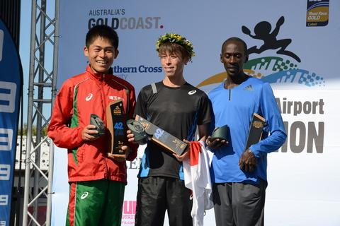 GCAM17 42km Mens podium
