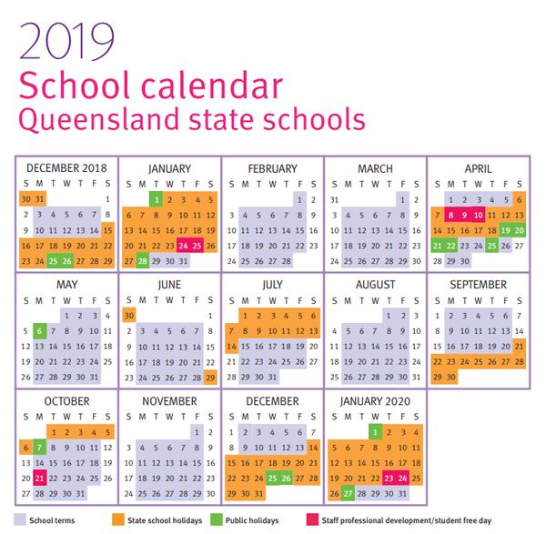 2019schoolcalendarqld