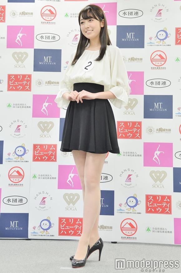 【画像】ミス慶応の小田安珠さん、「ミス日本」グランプリに 女子アナ目指す21歳