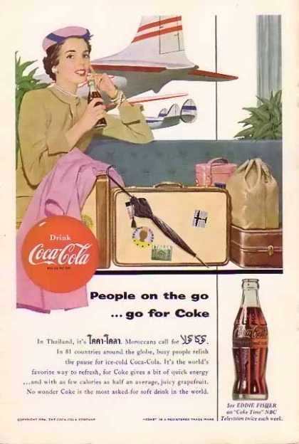 Coca Cola advertisment 1954